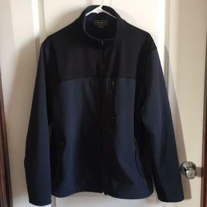 Eddie Bauer Blue and Black Fleece Zip Up Jacket